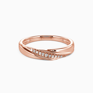 18K Rose Gold My Forever Love Wedding Classic Bands