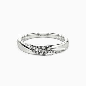 18K White Gold My Forever Love Wedding Classic Bands