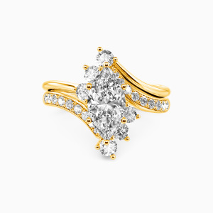 10K Gold You Are My Life Engagement Bridal Sets