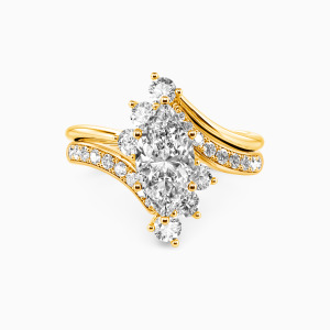 14K Gold You Are My Life Engagement Bridal Sets