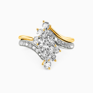 14K White Gold You Are My Life Engagement Bridal Sets