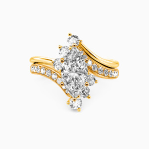 18K Gold You Are My Life Engagement Bridal Sets