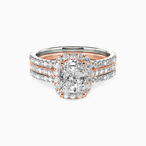 14K Rose Gold With All My Love Engagement Bridal Sets