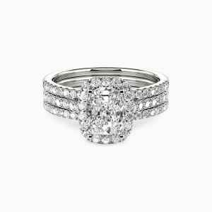 14K White Gold With All My Love Engagement Bridal Sets
