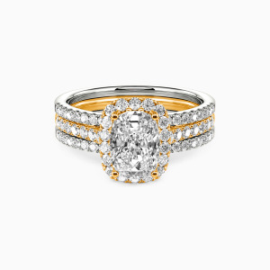 18K Gold With All My Love Engagement Bridal Sets