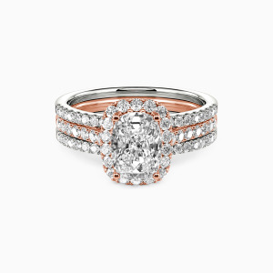 18K Rose Gold With All My Love Engagement Bridal Sets