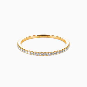 18K Gold You're Magical Wedding Classic Bands