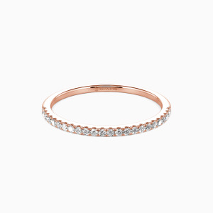 18K Rose Gold You're Magical Wedding Classic Bands