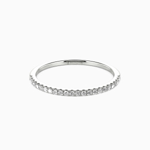 18K White Gold You're Magical Wedding Classic Bands