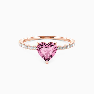 10K Rose Gold You're Magical Engagement Side Stone Rings