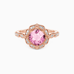 10K Rose Gold All of Me Loves All of You Engagement Halo Rings
