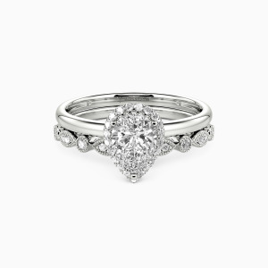 10K White Gold Brave Love Engagement Bridal Sets