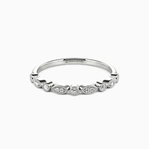 10K White Gold Brave Love Wedding Classic Bands