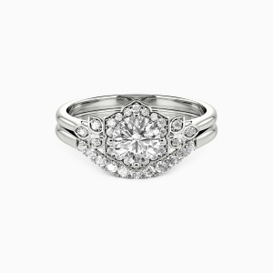 10K White Gold To The Beautiful You Engagement Bridal Sets