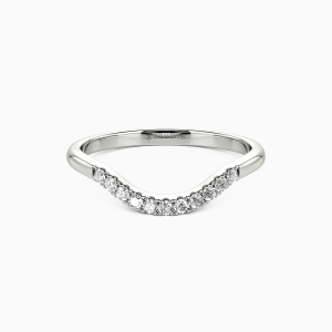 10K White Gold To The Beautiful You Wedding Classic Bands