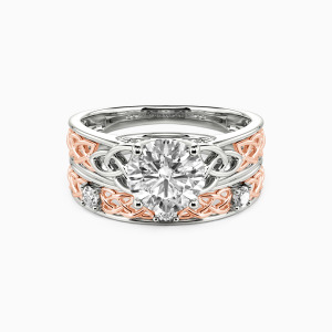 10K White Gold Come As Expected Engagement Bridal Sets
