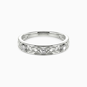 10K White Gold Come As Expected Wedding Classic Bands