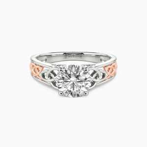 10K White Gold Come As Expected Engagement Solitaire Rings