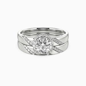 10K White Gold Everlasting Love Engagement Bridal Sets