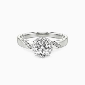 10K White Gold Everlasting Love Engagement Halo Rings