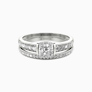 10K White Gold The Long Milky Way Engagement Bridal Sets