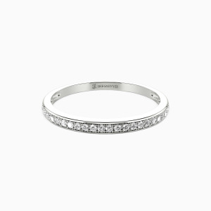 10K White Gold The Long Milky Way Wedding Classic Bands