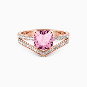 10K Rose Gold I Want To Hold Your Hand Engagement Bridal Sets