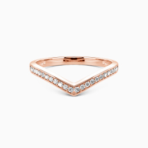 10K Rose Gold I Want To Hold Your Hand Wedding Classic Bands