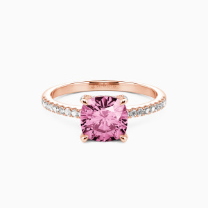 10K Rose Gold I Want To Hold Your Hand Engagement Side Stone Rings