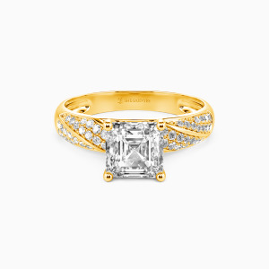 10K Gold Your Sweetness Engagement Side Stone Rings