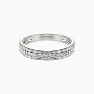 10K White Gold Save Your Love Wedding Classic Bands