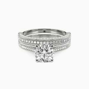 10K White Gold You're My World Engagement Bridal Sets