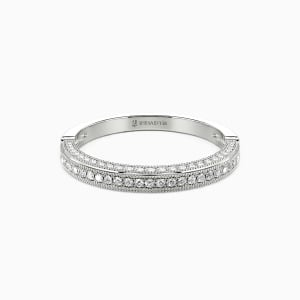 10K White Gold You're My World Wedding Classic Bands