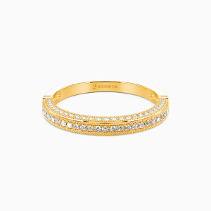 14K Gold You're My World Wedding Classic Bands