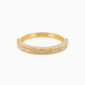 18K Gold You're My World Wedding Classic Bands