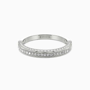 18K White Gold You're My World Wedding Classic Bands