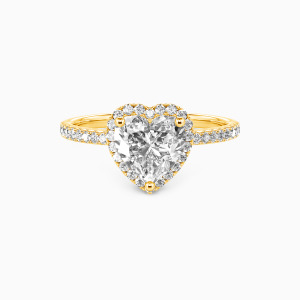 10K Gold You Are My Everything Engagement Halo Rings
