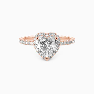 10K Rose Gold You Are My Everything Engagement Halo Rings