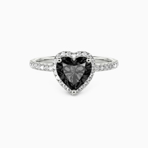 10K White Gold You Are My Everything Engagement Halo Rings