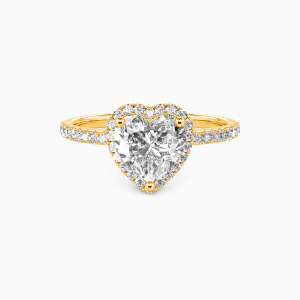 14K Gold You Are My Everything Engagement Halo Rings