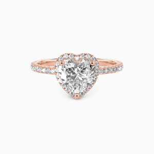 14K Rose Gold You Are My Everything Engagement Halo Rings