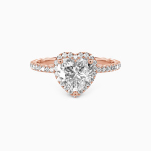 18K Rose Gold You Are My Everything Engagement Halo Rings