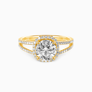 10K Gold My Heart Is Beating For You Engagement Halo Rings