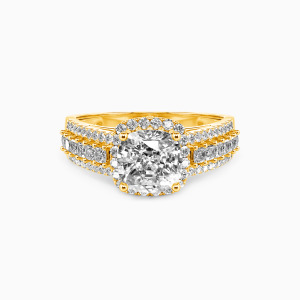 10K Gold Be with You Engagement Halo Rings