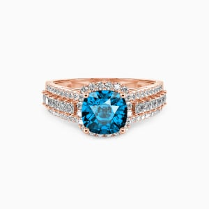 10K Rose Gold Be with You Engagement Halo Rings