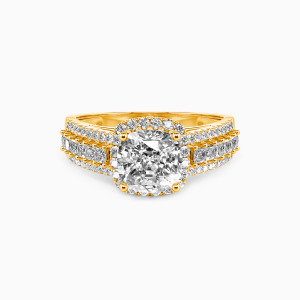 14K Gold Be with You Engagement Halo Rings