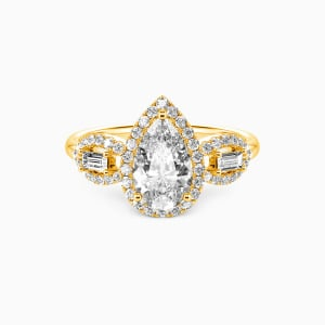10K Gold Never Separate Engagement Halo Rings