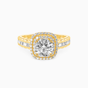 10K Gold My Inspiration Engagement Halo Rings