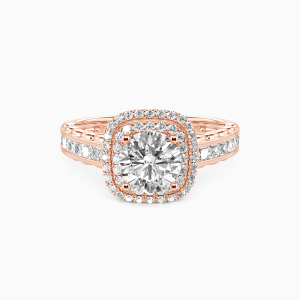 10K Rose Gold My Inspiration Engagement Halo Rings