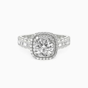10K White Gold My Inspiration Engagement Halo Rings